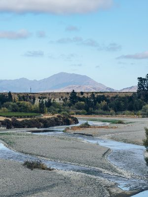 The Awatere river in the Awatere valely.