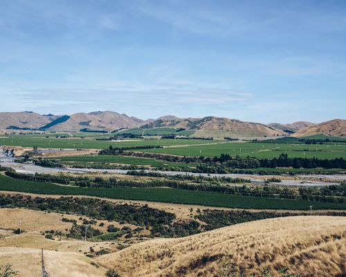 An overview of Awatere Valley vineyards.