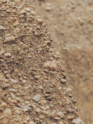 The rocky clay soil of Lone Gum Cottage Block vineyard.