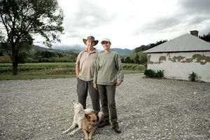 Chris and Lynn Wilson, grapegrowers.